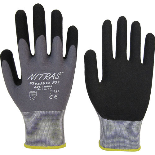 "Nitras Strick-Handschuhe ""Flexible Fit "", grau, Gr. 7-11, 12-er-Pack"